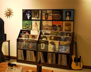 レコードディスプレイラック 2台並びイメージ